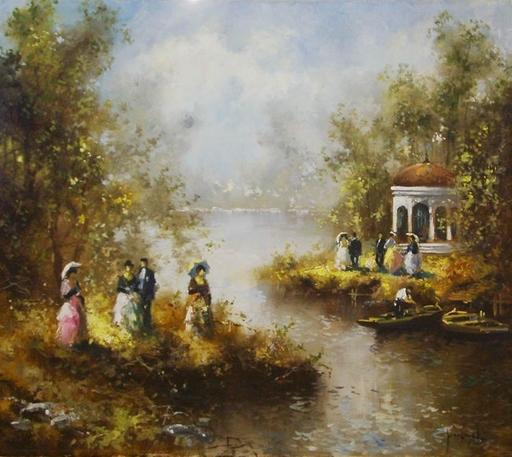 Christian JERECZEK - Pintura - Im Park