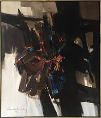 Claude Ronald BENTLEY - Painting - Plumed Serpent