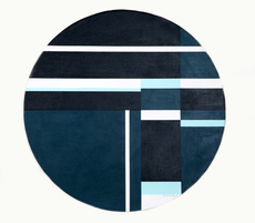 Ilya BOLOTOWSKY - Painting - Blue Tondo
