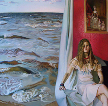 Maija TABAKA - Painting - GIRL AND THE SEA