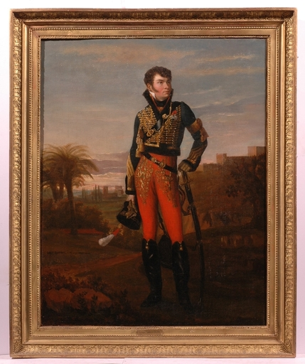 """Georges ROUGET (Attrib.) - Painting - """"Vicomte de Rigny"""", ca. 1810, Oil Painting"""