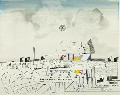 Saül STEINBERG - Drawing-Watercolor - City Planning