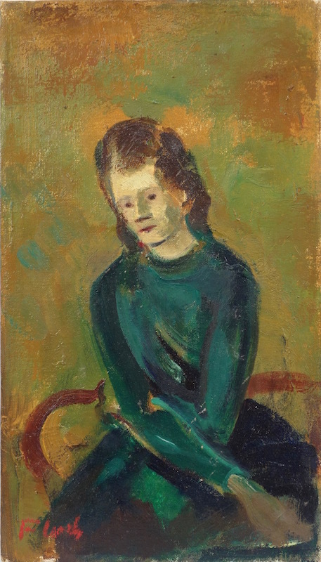 Joseph FLOCH - Painting - Portrait of a Woman