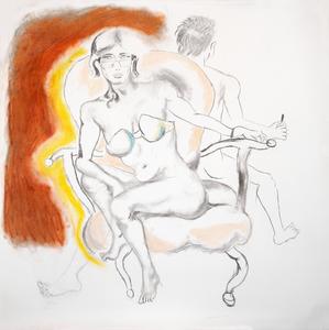 Manuel MONTERO - Dessin-Aquarelle - Gnostique I, Eve et Manuel