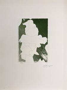 Jasper JOHNS - Print-Multiple - Green Angel