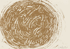 Günther UECKER - Print-Multiple - Huldigung an Hafez Nr. 37