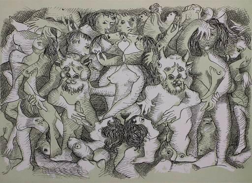 Enrico BAJ - Stampa-Multiplo - Erotica VI