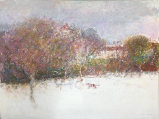 Pim DE CHABANNES - Painting - Jeux de neige