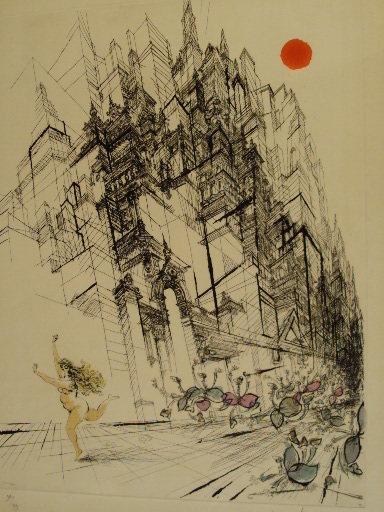 "Ronald SEARLE - Estampe-Multiple - ""The Last Sabine""1970."