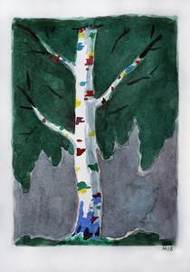 Damir MURATOV - Drawing-Watercolor - Birch