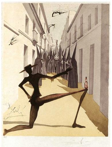 萨尔瓦多·达利 - 版画 - THE BIRD HAS FLOWN