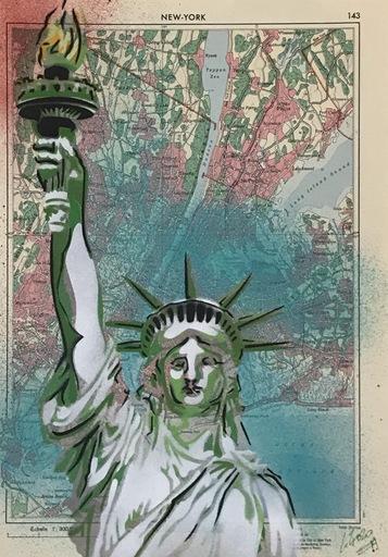 KIKI - Zeichnung Aquarell - Carte New York