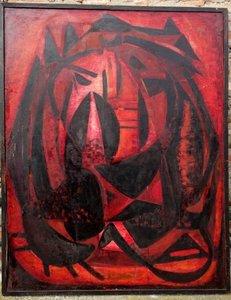 "Denise CHESNAY - Painting - ""Le Jardin Enflammé"""