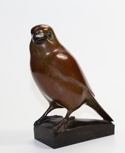 François GALOYER - Sculpture-Volume -  Durbec des sapins