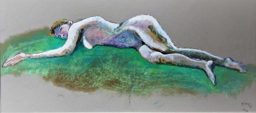 R.CAVALIÉ - Drawing-Watercolor - La femme-poisson.