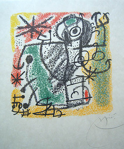 """Joan MIRO, """"Les Essencies de la Terra"""" (Mourlot 574)"""