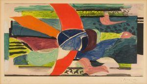 Georges BRAQUE - Print-Multiple - Oiseau multicolore