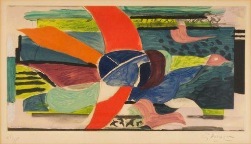 Georges BRAQUE - Druckgrafik-Multiple - Oiseau multicolore