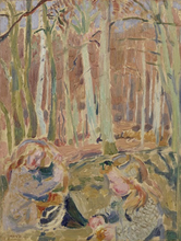 Maurice DENIS - Peinture - Les enfants jouant dans la forêt