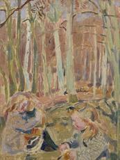Maurice DENIS - Pintura - Les enfants jouant dans la forêt