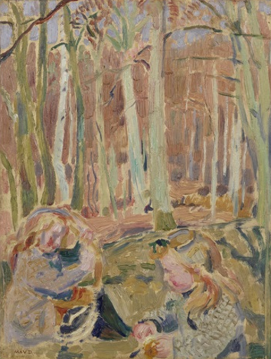 Maurice DENIS - Pittura - Les enfants jouant dans la forêt