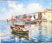 Albert Ferdinand DUPRAT - Pintura - villefranche sur mer