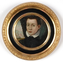 """Alessandro ALLORI (Attrib.) - Painting - """"Portrait of a noble boy"""", late 16th Century"""