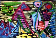 Albert HENNIG - Pintura - Abstrakte Komposition