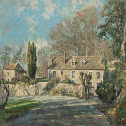 André BOUBOUNELLE - Painting - La maison de l'écrivaine