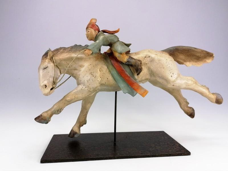 Sandra COURLIVANT - Sculpture-Volume - Cavalier de Naadam