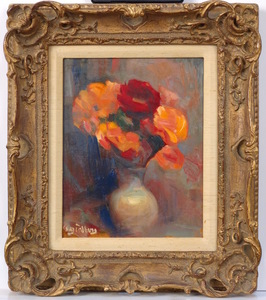 Abraham GINSBURG - Pintura - Flower Still Life