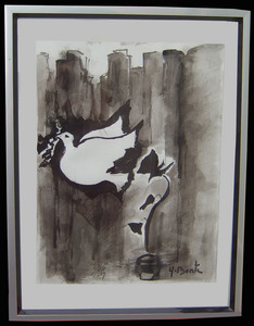 Yvette BONTÉ - Drawing-Watercolor - La colombe