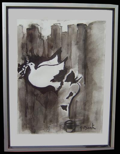 Yvette BONTÉ - Dibujo Acuarela - La colombe