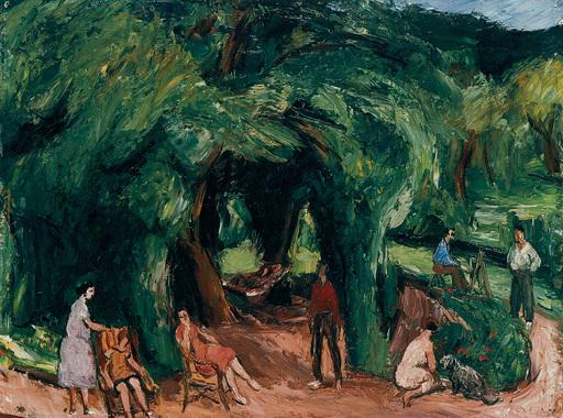Charles KVAPIL - Peinture - Le jardin de Viller-sur-Morin