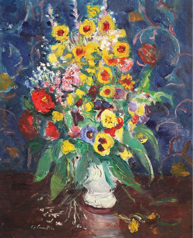 Charles CAMOIN - Peinture - Fleurs dans un vase blanc