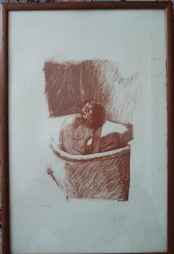 Pierre BONNARD - Grabado - LE  BAIN