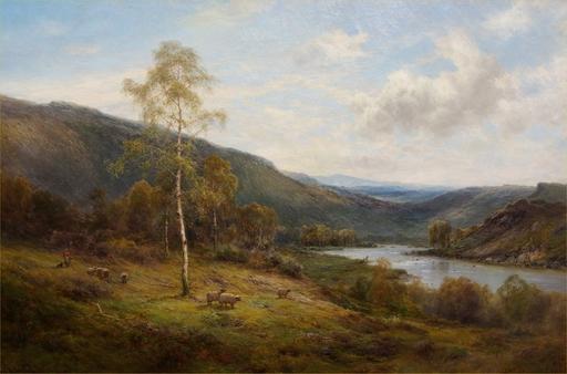Alfred I DE BREANSKI - Pittura - A Perthshire Valley