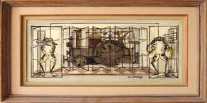 Claude VENARD - 绘画 - Les Grenouilles
