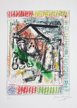 Marc CHAGALL (1887-1985) - Le Peintre devant le Village II