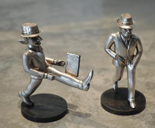 Antonio SEGUI - Escultura - Paire de sculptures en Argent / compradito et el viajero