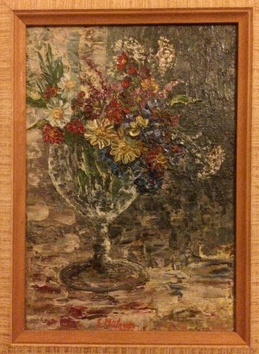 Samuel MÜTZNER - Pintura - Bouquet de fleurs