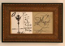 """Salvador DALI (1904-1989) - Don Quixote in the """"Candy Box"""" book"""