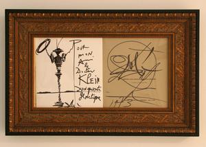 "Salvador DALI - Drawing-Watercolor - Don Quixote in the ""Candy Box"" book"