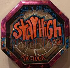 STAYHIGH 149 - Peinture - Dripping Clock Neon Orange