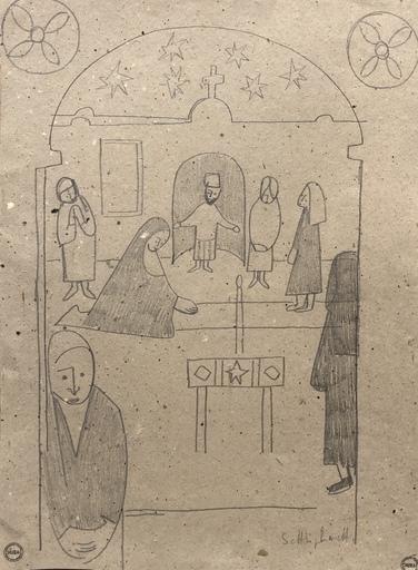 Albert CHUBAC - Disegno Acquarello - Sans titre