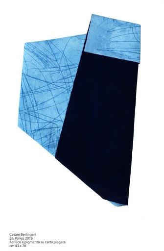 """Cesare BERLINGERI - Peinture - """"Blu Parigi"""""""
