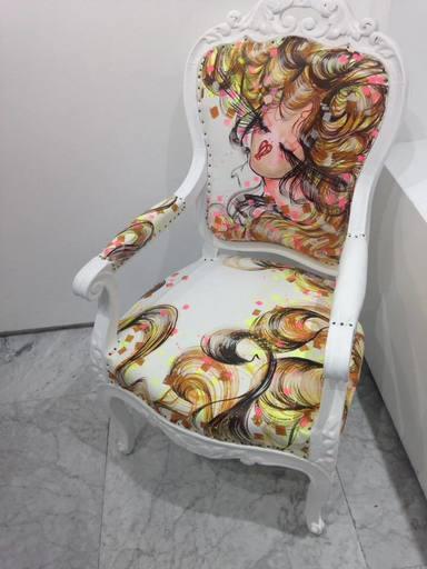 "Rachel BERGERET - Pittura - Armchair ""Dreams"""