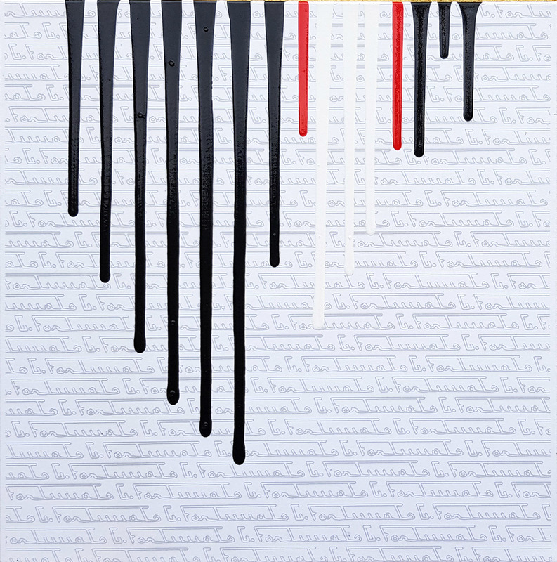 Giuseppe FORTUNATO - Peinture - colate sans titre-30x30cm