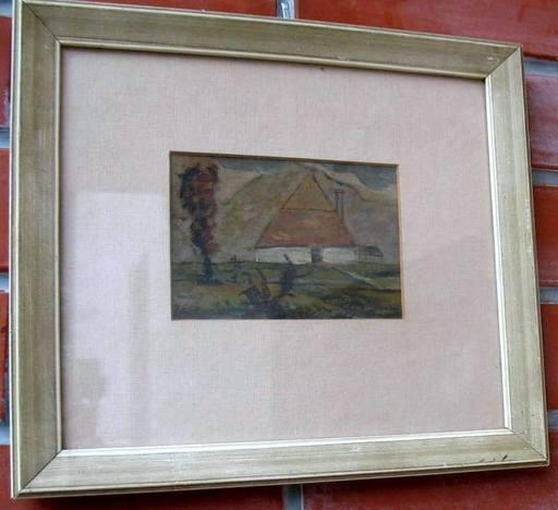 Milos Alexander BAZOVSKY - Painting - House on Liptov