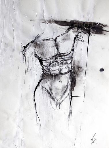 Guillaume KALT - Dibujo Acuarela - Oedipe (buste)    (Cat N° 6149)